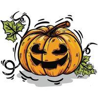 halloween pumpkin hand drawn vector illustration