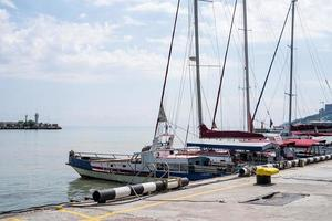 Embankment and yachts club on the Black Sea coast of Yalta photo