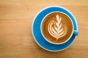 Cup of coffee latte art photo