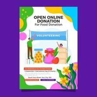 cartel de donación en línea del día humanitario vector