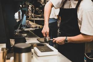 el proceso de elaboración del café. foto