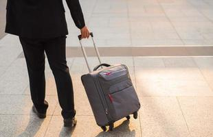 Business man with suitcase photo
