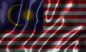 Wallpaper by Malaysia flag and waving flag by fabric. photo