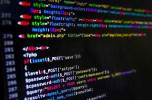 Desktop source code and Wallpaper by coding and programming. photo