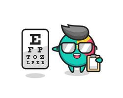 Illustration of chart mascot as an ophthalmologist vector