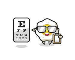 Illustration of fried egg mascot as an ophthalmologist vector