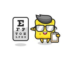 Illustration of sponge mascot as an ophthalmologist vector