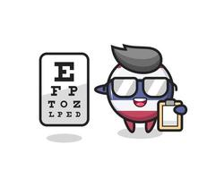 Illustration of thailand flag badge mascot as an ophthalmologist vector