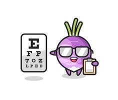 Illustration of turnip mascot as an ophthalmologist vector