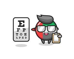 Illustration of uae flag badge mascot as an ophthalmologist vector