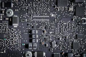 Repair of electronic control panel, motherboard and circuit board. photo