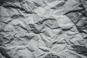 White background and wallpaper by crumpled paper texture. photo
