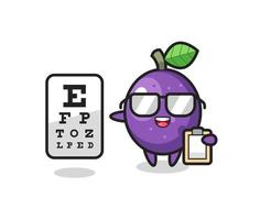 Illustration of passion fruit mascot as an ophthalmologist vector