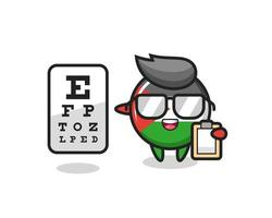 Illustration of palestine flag badge mascot as an ophthalmologist vector