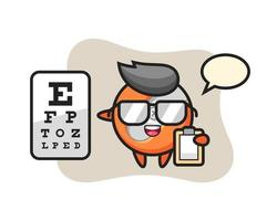 Illustration of pencil sharpener mascot as an ophthalmologist vector