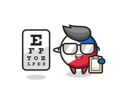 Illustration of philippines flag badge mascot as an ophthalmologist vector