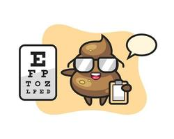 Illustration of poop mascot as an ophthalmologist vector