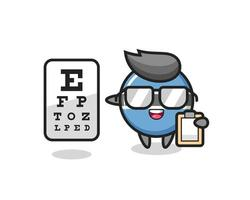 Illustration of botswana flag badge mascot as an ophthalmologist vector