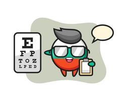 Illustration of bulgaria flag badge mascot as an ophthalmologist vector