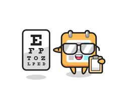 Illustration of calendar mascot as an ophthalmologist vector