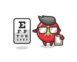 Ilustración de la mascota de la insignia de la bandera de Vietnam como oftalmólogo vector
