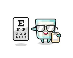 Illustration of milk mascot as an ophthalmologist vector