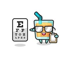 Illustration of orange juice mascot as an ophthalmologist vector