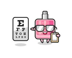 Illustration of perfume mascot as an ophthalmologist vector