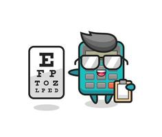 Illustration of calculator mascot as an ophthalmologist vector
