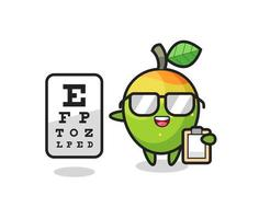 Illustration of mango mascot as an ophthalmologist vector
