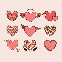 Heart Icon Collection vector
