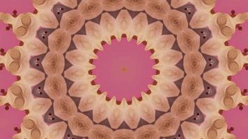 fundo abstrato de meditação mandala video
