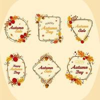 Autumn Floral Arrangement Collection vector