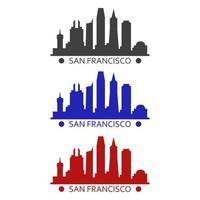 San Francisco skyline illustrated on white background vector