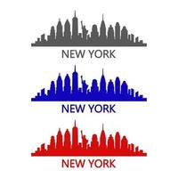 New york skyline illustrated on white background vector
