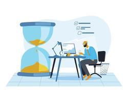 Business office deadline illustration concept vector