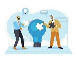 Idea analyzing business illustration concept vector