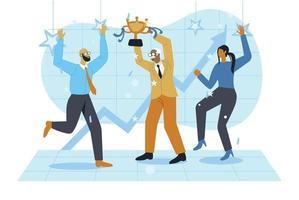 Business people celebrating vector illustration concept vector