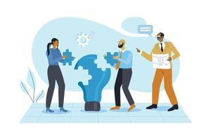 Business teamwork illustration concept vector