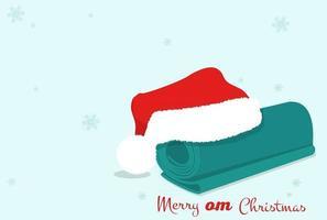 Merry christmas yoga card. Vector banner