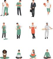 Profession Set vector. Group of people with different occupations vector