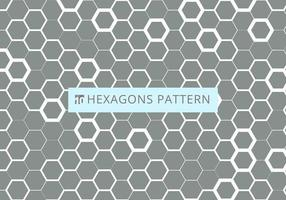 Abstract white hexagonal pattern on gray background vector