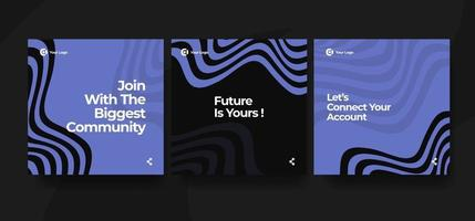 Modern and minimalist social media design template vector
