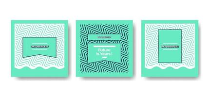 Modern and minimalist social media design template for brand identity vector