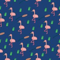 seamless pattern with pink birds. Pattern for fabric vector