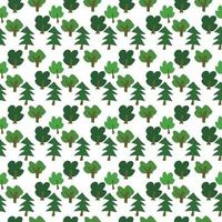 vector seamless pattern with green primitive trees