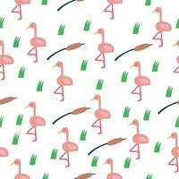 vector seamless pattern with flamingos. pattern for clothing, fabric