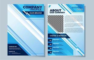 Blue Business Company Profile Template vector