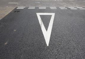 Give way sign photo
