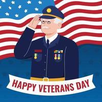 Happy Veterans Day Illustration vector